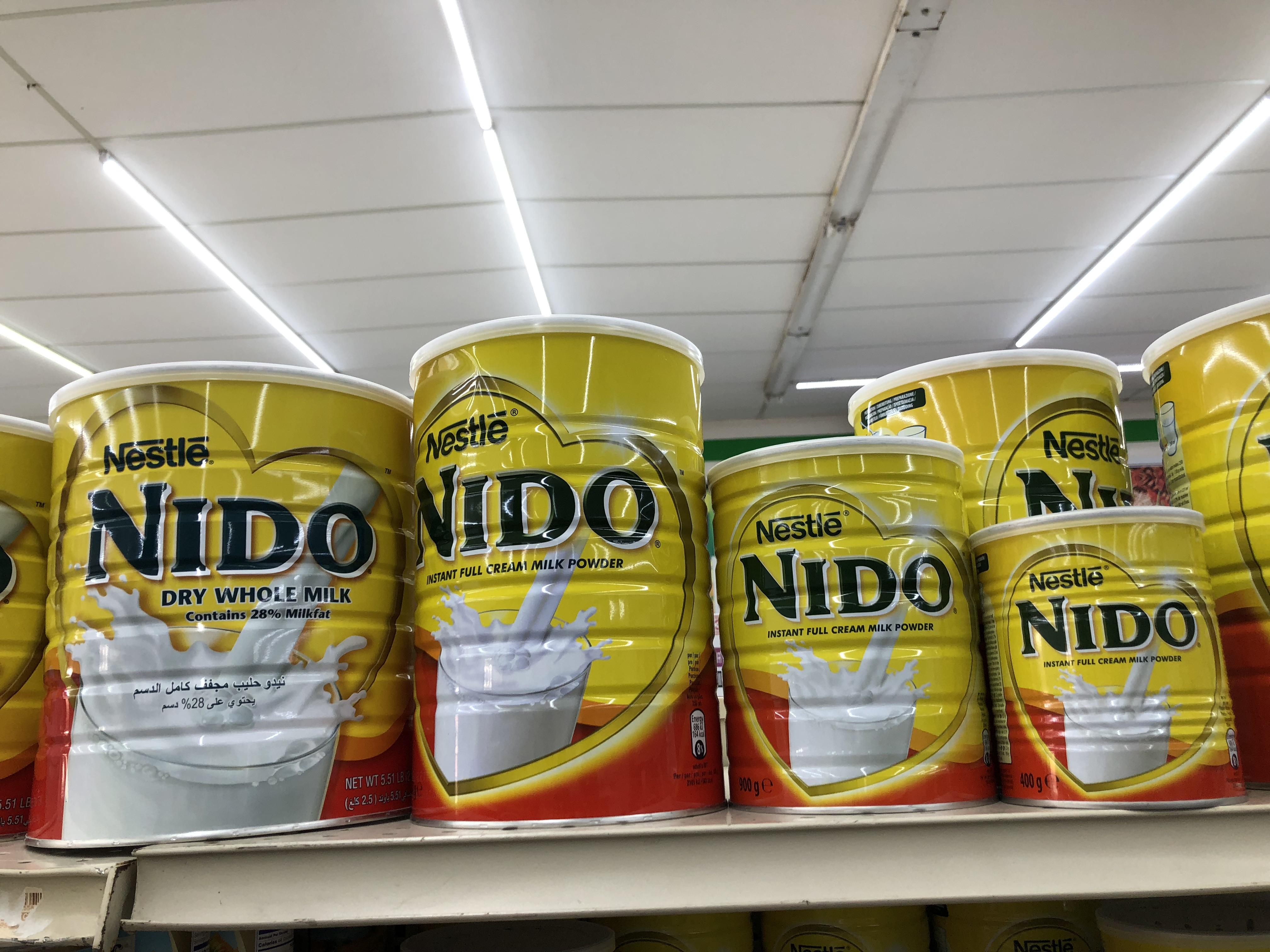Nestle Nido Milk Powder 1+ Red Cap for Sale in English, Arabic