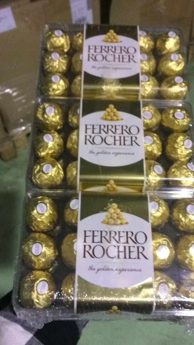 Ferrero Rocher T30 Chocolate, Kitkat , Snickers, Ferrero Nutella