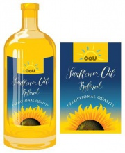 refined sunflower oil of ukraine  - product's photo