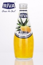 aloe vera drink with aloe vera pulps mango flavored - product's photo