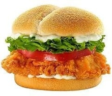 halal chicken burger - product's photo