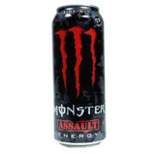 monster assault energy drink 500 ml - product's photo