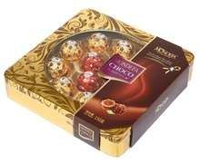 t12 12pcs tin box chocolate 150g - product's photo