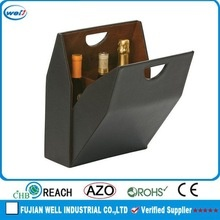 luxury faux leather black box wine coupon for father's day gift - product's photo
