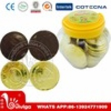 gold coin chocolate in jar - product's photo