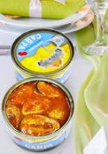 canned saury in tomato sauce - product's photo
