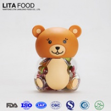 bear shape plastic candy jar - product's photo