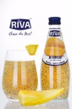 basil seed drink with mango flavor glass bottled - product's photo