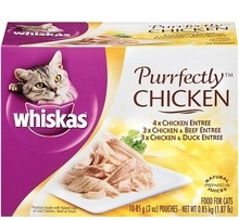 whiskas chicken & duck 4pack for sale - product's photo