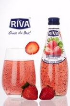 basil seed drink with strawberry flavor  - product's photo