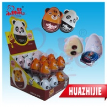 animal shape surprise chocolate egg with lighting toy inside - product's photo