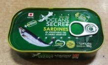 canned sardines in vegetable oil  - product's photo