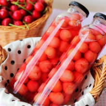 fresh canned cherry fruit in jar for sale with oem label - product's photo