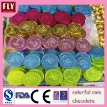 colored gold coin chocolate - product's photo