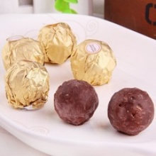 single individual package round wafer ball chocolate - product's photo