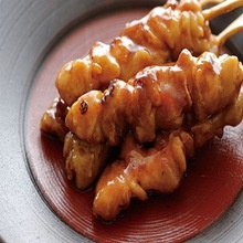 frozen grilled bbq chicken kebabs mixing with spices soup - product's photo