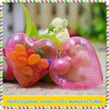 plastic heart shape candy toy for child - product's photo
