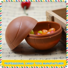 mini plastic football and basketball shaped candy toys - product's photo
