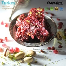 pomegranate flavoured deluxe turkish delight with pistachio and dried barberries - product's photo