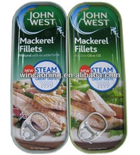 100g canned mackerel fillets in oil - product's photo