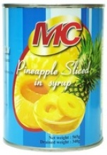 canned pineapple in syrup - product's photo