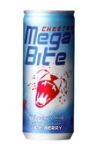 cheetah mega bite carbonated energy drink ( icy berry ) - product's photo