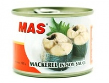 canned mackerel fish in soy sauce - product's photo