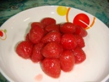 canned strawberry in syrup - product's photo