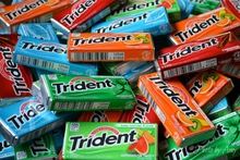 tropical fruit flavor sugar free chewing gum, tropical twist chewing gum,same as trident chewing gum - product's photo