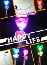 quanzhou kids popular light up color glow stick fruit sweet lollipop candy - product's photo