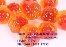 fruit juice center filled jelly gummy soft candy - product's photo