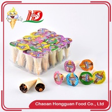 wholesale ice cream shaped china crispy biscuit chocolate names brands - product's photo