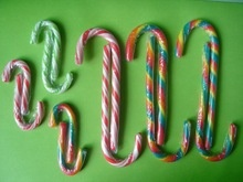 crutch stick christmas lollipop candy cane - product's photo