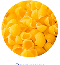 wheat pasta shells 20 kg tm petrovskie nivy - product's photo