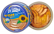 tuna fillets in oil 160g. (di alba) - cans with transparent lid! - product's photo