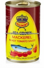 sea crown canned mackerel in hot tomato sauce  - product's photo