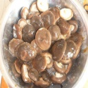 salted shiitake mushrooms in brine - product's photo