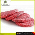 fresh halal beef burger meat - product's photo
