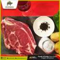 spanish fresh halal beef steak or t-bone meat - product's photo