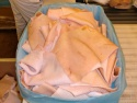 frozen pork back skin - product's photo