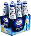 kronenbourg 1664 blanc beer in blue 25cl and 33cl bottles and 500cl ca - product's photo