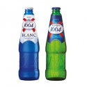 kronenbourg 1664 blanc beer in blue 25cl, 33cl bottles and 500ml  - product's photo
