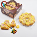 hot selling pizza puffing chocolate beans candy - product's photo
