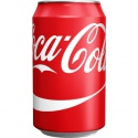 coca cola drinks in cans and bottles - product's photo