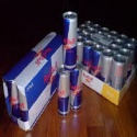 red bull energy drink pallets - english and spanish versions - product's photo