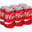 coca cola 330ml cans soft drinks  - product's photo