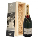 champagne in printed box - moët & chandon (1500ml) - product's photo
