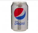 diet pepsi soft drink can 330ml [pack 24] - product's photo
