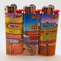 brand new bic lighters lot of 3 lighters collection original disposabl - product's photo