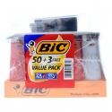full size big bic cigarette lighters multi purpose assorted color flin - product's photo